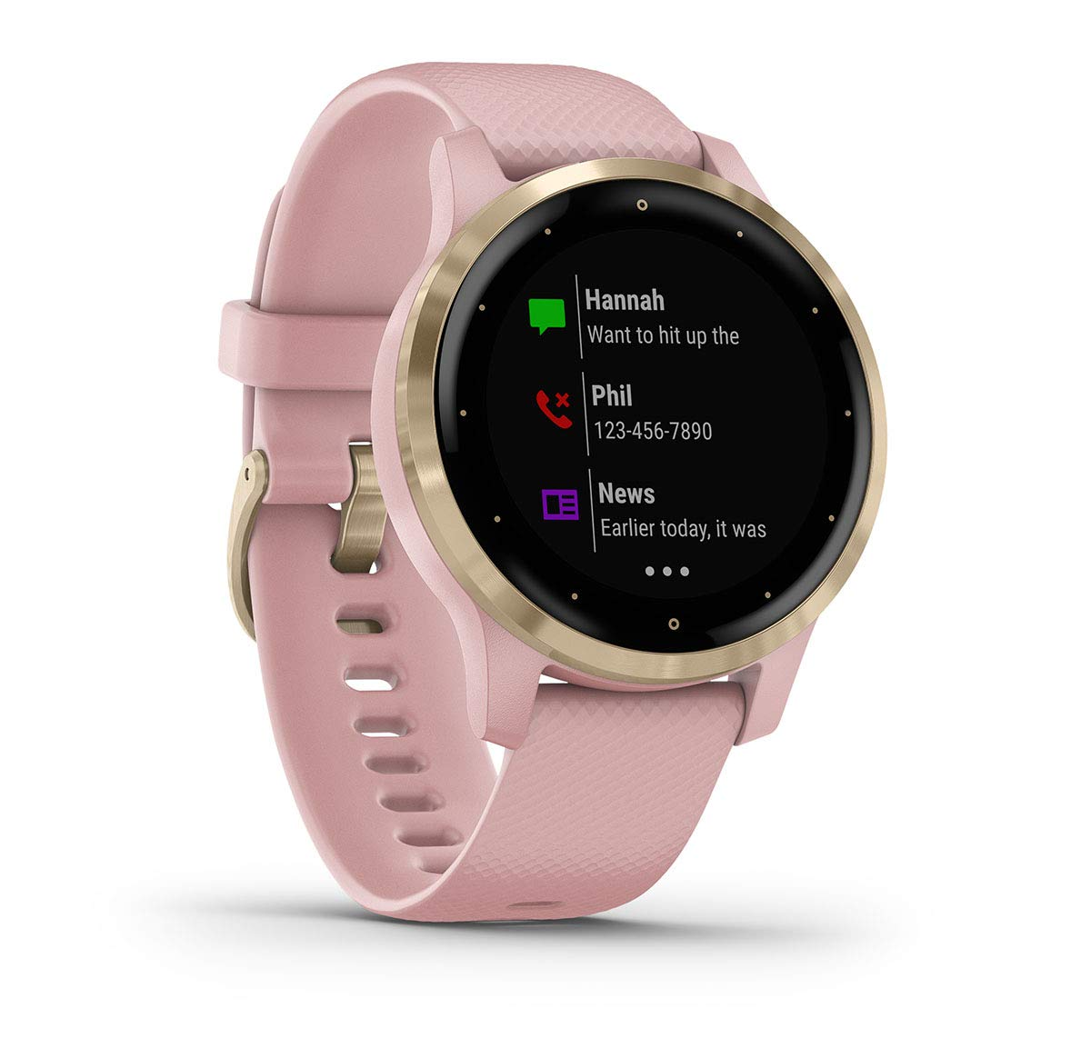 PlayBetter Garmin vivoactive 4S (Light Gold/Dust Rose) Fitness Smartwatch Power Bundle | 2019 Model | with HD Screen Protectors (x4) Portable Charger ...