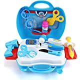Smija ままごと遊び リアル医用セット 道具ライト搭載 多様化 お医者さんごっこ  子どもおもちゃ ブルー