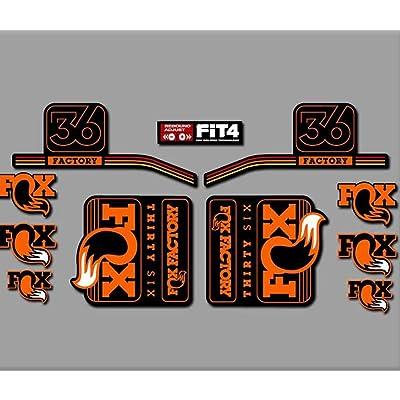 Ecoshirt CP-6719-RYH2 Stickers Fork Fox 36 R287 Stickers Aufkleber Decals Autocollants Desivi, Orange: Automotive