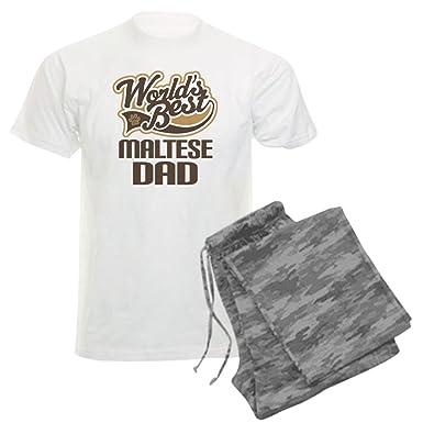 007e4c71c9 Amazon.com: CafePress - Maltese Dad Dog Gift Men's Light Pajamas - Unisex  Novelty Cotton Pajama Set, Comfortable PJ Sleepwear: Clothing