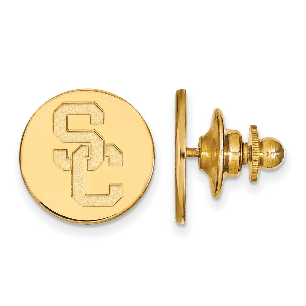 Solid 14k Yellow Gold University of Southern California Tie Tac (16mm x 16mm)
