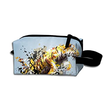 7483233946d3 Amazon.com : Dressing Case Travel Leaping Tiger Cosmetic Bags With ...