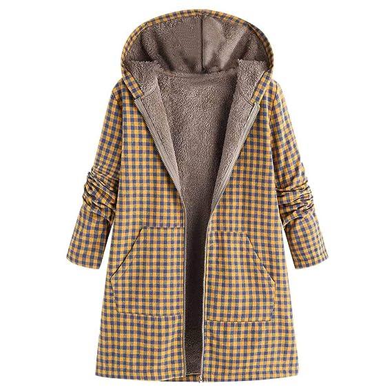 Logobeing Abrigos Invierno Mujer Tallas Grandes Elegante Caliente Sudaderas Jersey Cardigan Mujer con Cremallera Imprimir Bolsillo Vintage Coat: Amazon.es: ...