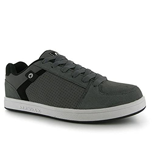 007e7f360 Airwalk Mens Brock Skate Shoes Lace Up Suede Accents Sport Casual Trainers  Charcoal CS4  Buy Online at Low Prices in India - Amazon.in