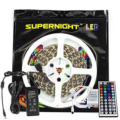 SUPERNIGHT RGB Color Changing Light Strip IP68 Waterproof Fl