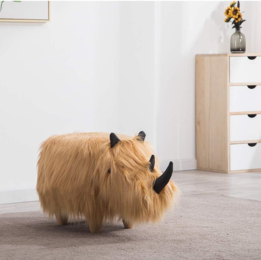 Color : Yellow, Size : 71 * 36 * 35cm Ottomane Animale Poggiapiedi Bestiame Poggiapiedi Animale Piede di Sgabelli for Bambini Pouf for Living Room Divano Sgabello Scarpe da Banco