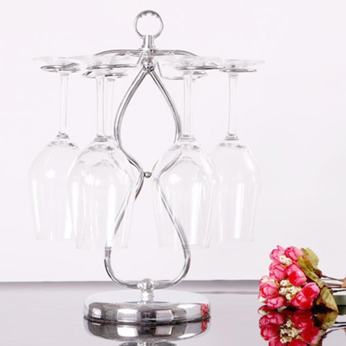 Amazon.com: eDealMax metal cocina del hogar del diseño del corazón botella de vino Copa del sostenedor del estante Permanente tono de plata: Kitchen & ...