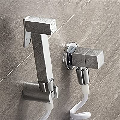 Sprinkle Wall Mount Pull out Bidet Faucet Chrome Single Handle One Hole