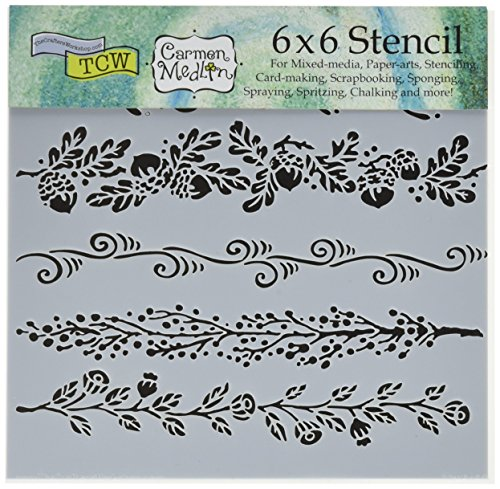 (Bible Journaling Stencils - Fanciful Borders (6