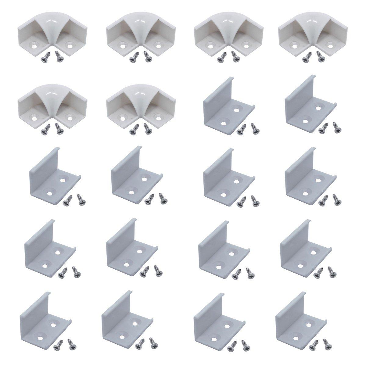 Litever 90 Degrees Corner Connectors, ONLY for Litever Slim V Shape LED Strip Aluminum Channels, Screws Included, LL-016-90D