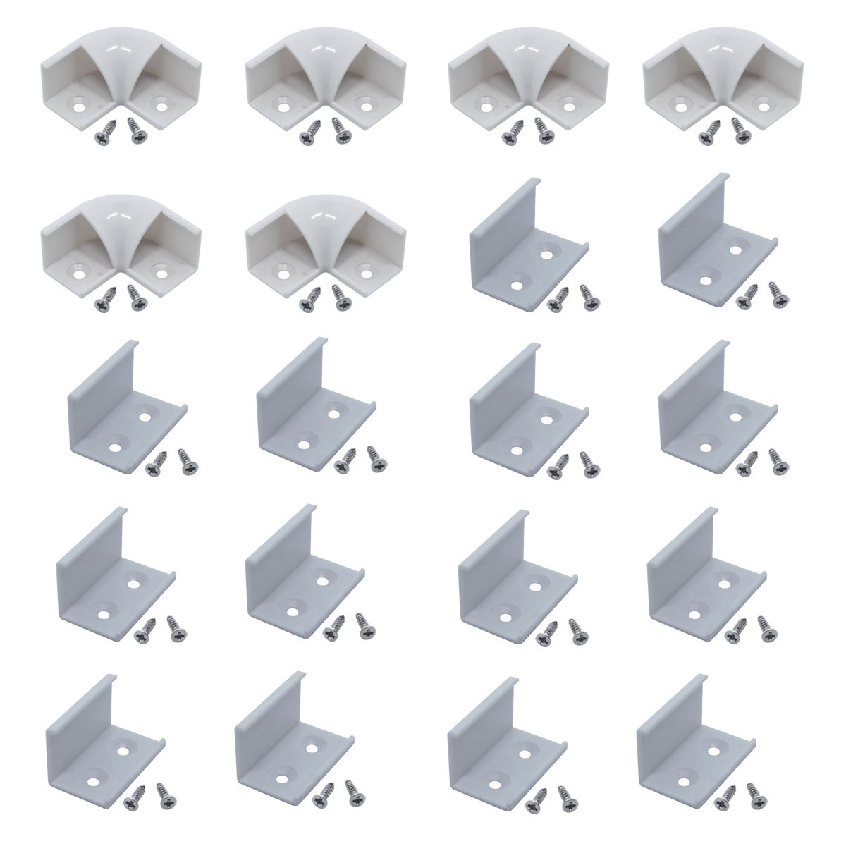 Litever 90 Degrees Corner Connectors, ONLY for Litever Slim V Shape LED Strip Aluminum Channels, Screws Included, LL-016-90D by Litever