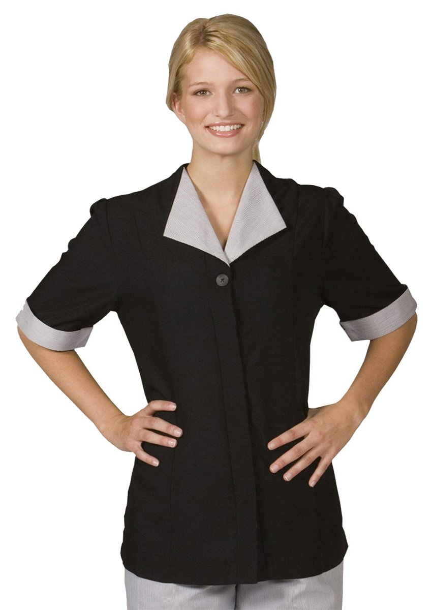 Ed Garments Women'S Short Sleeve Housekeepingtunic-Black-Aa