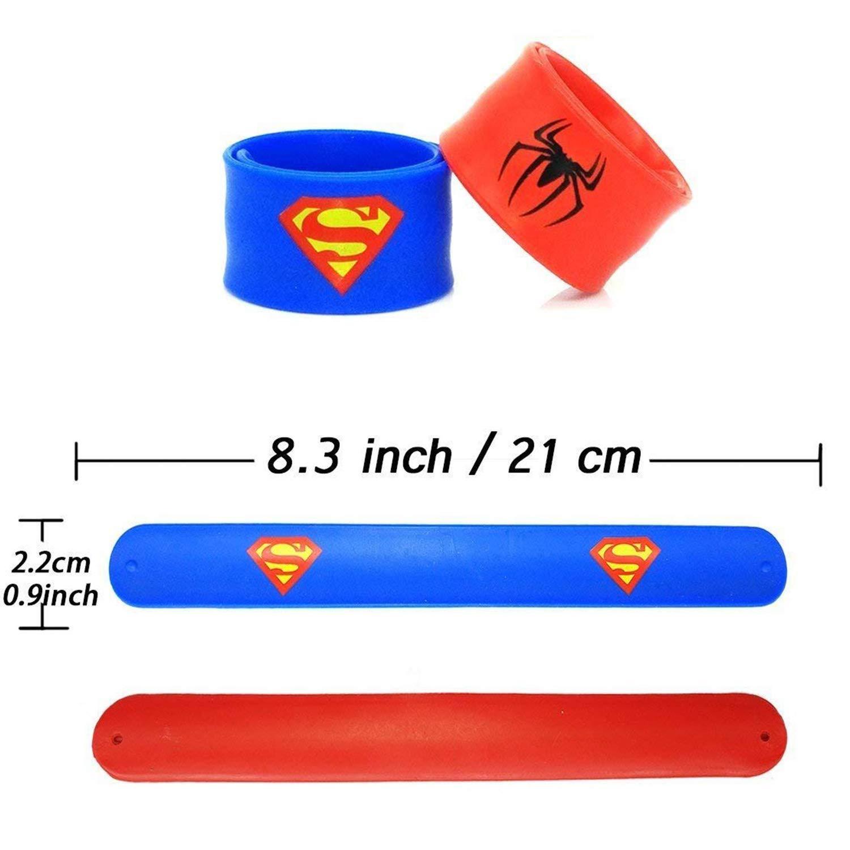 14 pack superheroes armb/änder slap bands partei liefert snap armb/änder partei tasche f/üllstoff armband armb/änder f/ür kinder jungen erwachsene kinder kinder superhero party favorisiert spielzeug