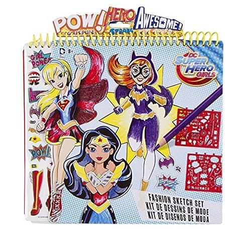 DC Superhero Girls Fashion Sketch Set - Fashion Design Set