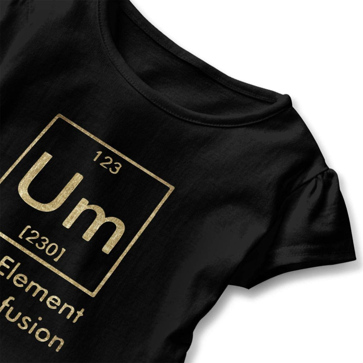 Um The Element of Confusion Funny Chemistry Toddler Baby Girls Short Sleeve Ruffle T-Shirt