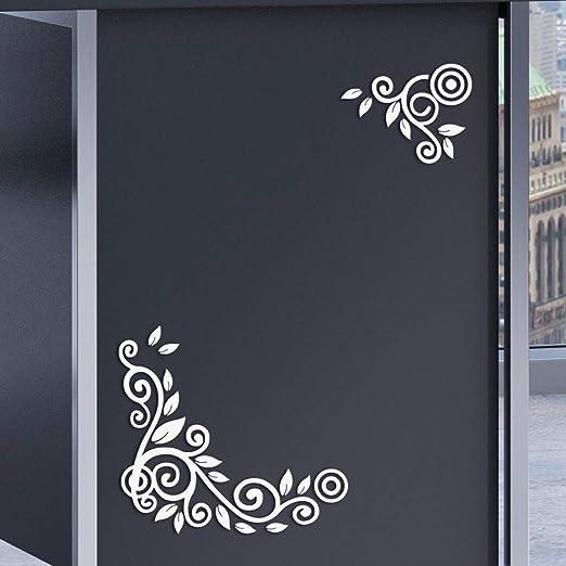 YWLINK 2PC / 1Set 3D DIY Forma De La Flor De AcríLico Etiqueta De La Pared Pegatinas Modernas DecoracióN: Amazon.es: Hogar