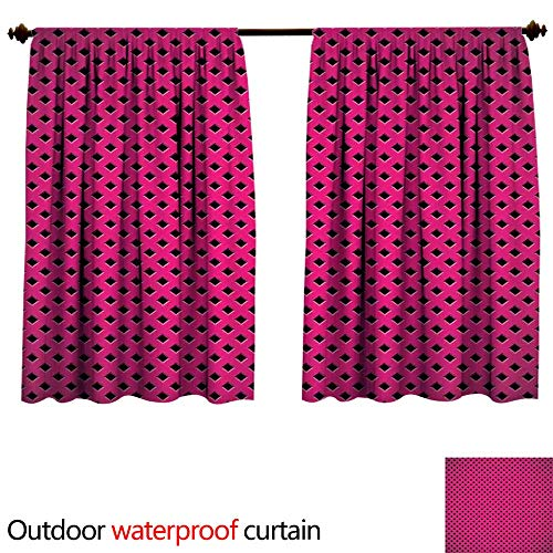 Magentasun Block Outdoor Curtain W96 x L72 Diamond Line Gril