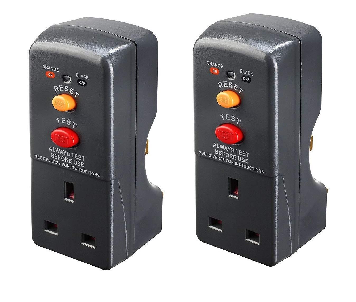 Masterplug ARCDKG RCD Plug-in Adapter Circuit Breaker Safety Trip Switch Grey