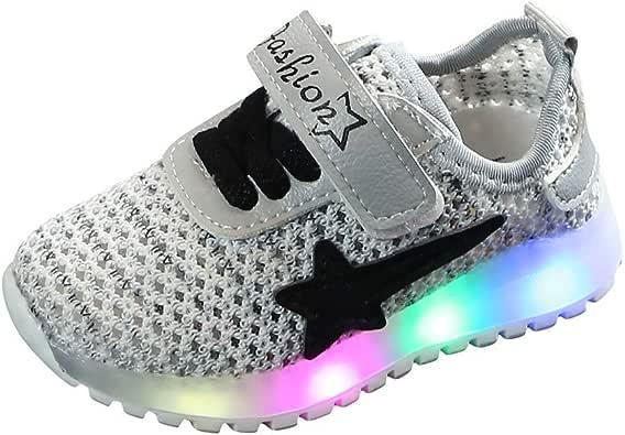 Zapatos niña luz LED Gimnasia Unisex niños Arcobaleno Tejido ...