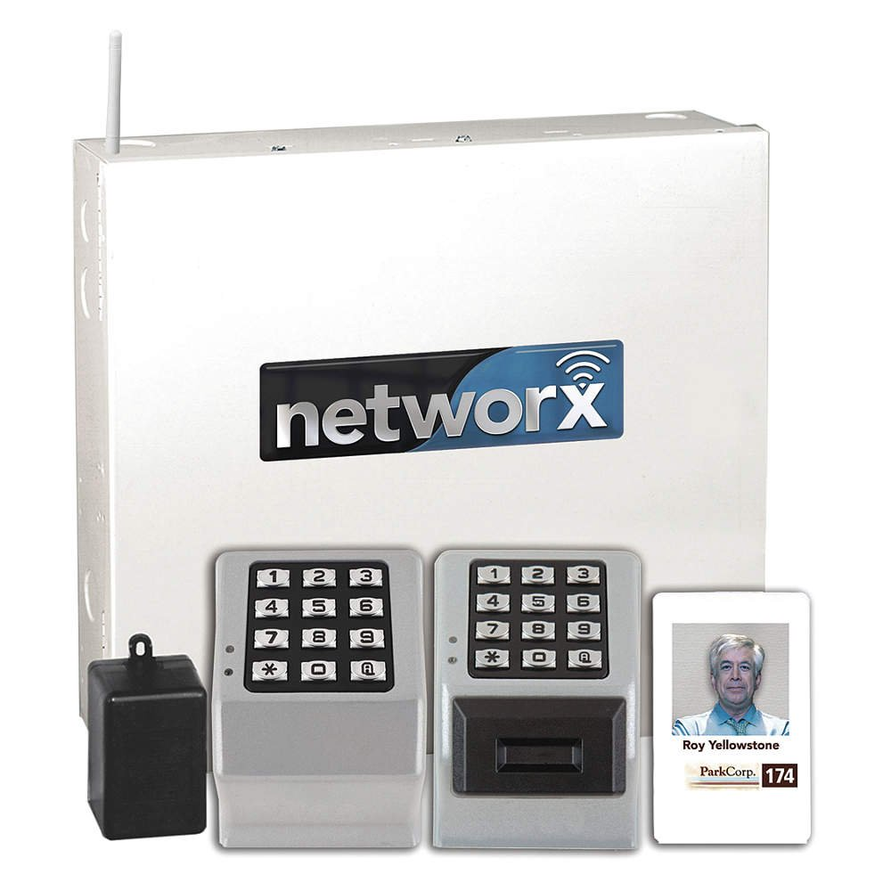 Image of Access-Control Keypads Alarm Lock NETWORXPANEL Wireless Prox/Pin 2 Door Controller