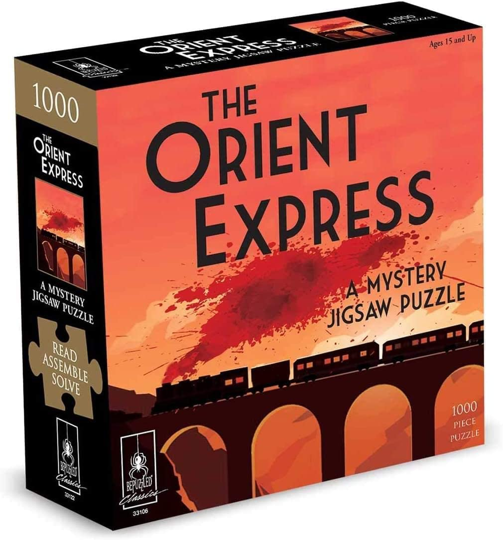 Bepuzzled Orient Express: A Mystery Jigsaw Puzzle, 1000 Pieces