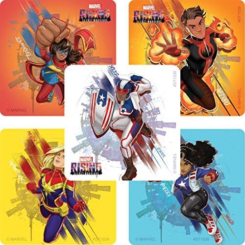 SmileMakers Marvel Rising Secret Heroes calcomanías – Premios 100 por Paquete: Amazon.es: Juguetes y juegos