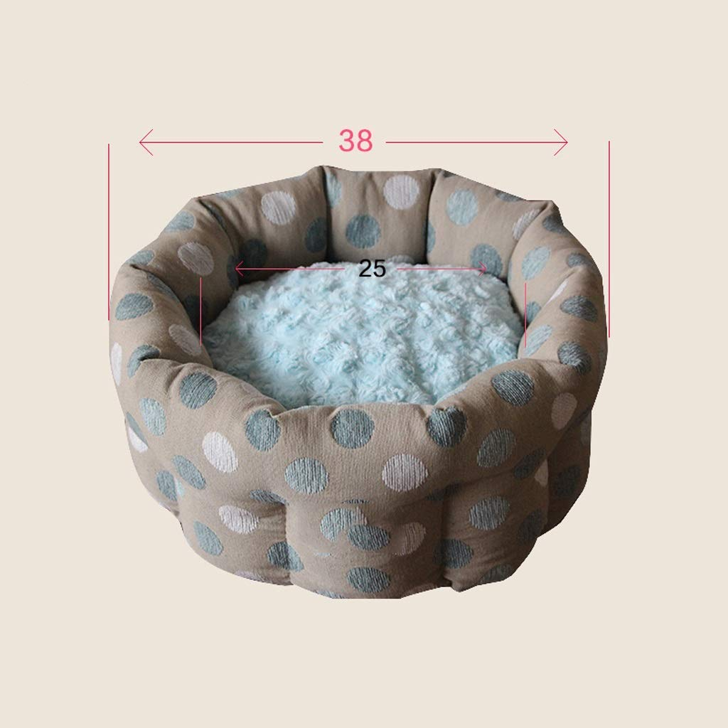 KYCD pet bed Small Removable Cat Litter Comfortable Warm Cat Bed With Cushion Pet Cat Supplies,38X35.5X20CM