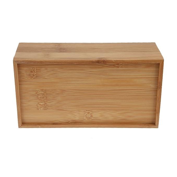 perfectii bambú Caja de pañuelos, rectangular funda Toalla dispensador de pañuelos de papel Toallas Caja Funda Caja De Cosméticos caja para casa oficina ...