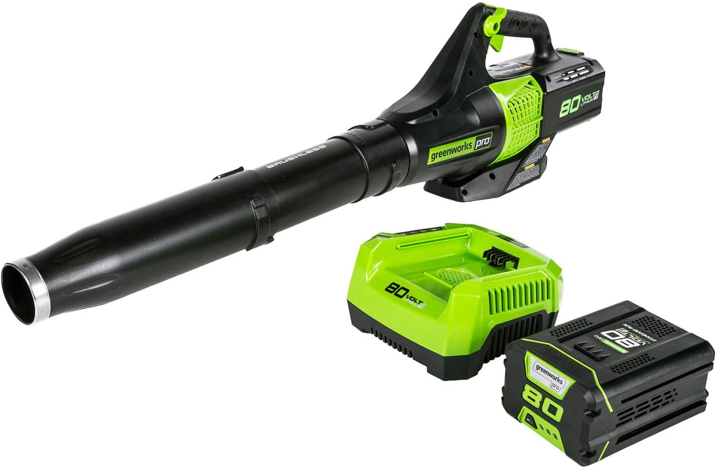 Greenworks BL80L2510 80V Jet Electric Leaf Blower