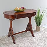 Cheap International Caravan ZM-3819-ST-IC Furniture Piece Windsor Carved Wood Writing Table with Flip-up Drawers