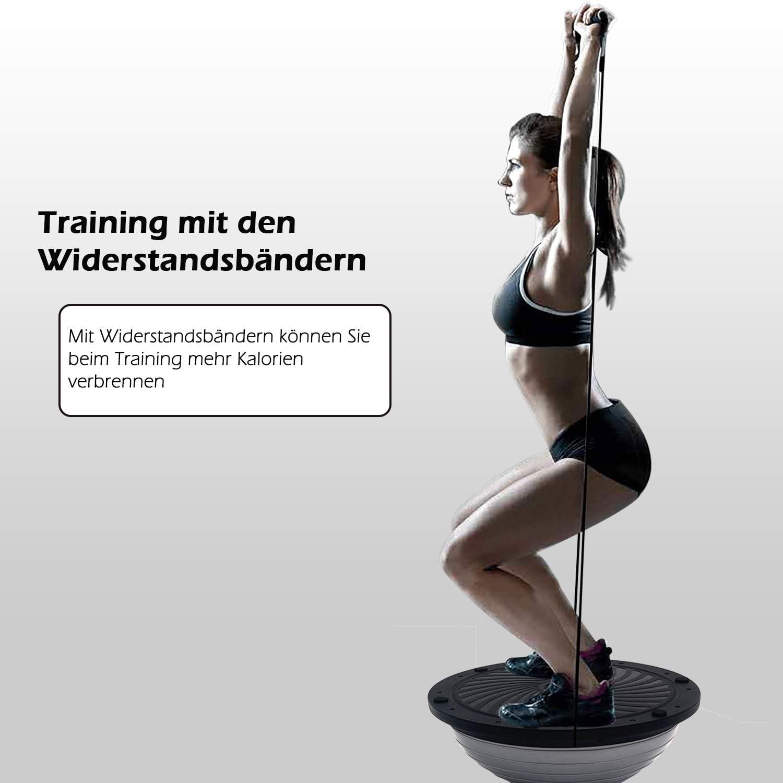 Lila ISE Balance Trainer Ball halbkugel,Halbball Balanceboards,Gleichgewichtstrainer /Ø66 cm,mit Widerstandsb/ändern und Pumpe,f/ür Yoga,Gymnastik SY-BAS1006