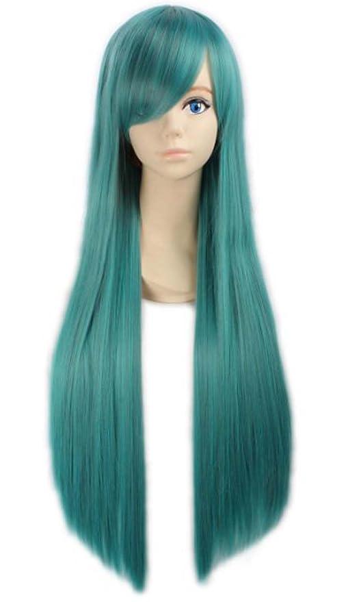 Generic Anime peluca larga lolita niña disfraz de cosplay pelucas 80 cm