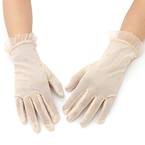 Tinksky Verano de encaje corto vestido guantes mujeres Screentouch guantes sol Uv protección deporte...