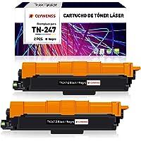 Clywenss Compatible TN247 TN243 Reemplazo para Brother TN-247 TN-243 Cartuchos de tóner para HL-L3210CW HL-L3230CDW HL…