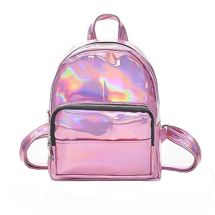 Amazon.com | Girl Laser Leather School Bag Backpack Satchel Women Trave Shoulder Bag | Backpacks