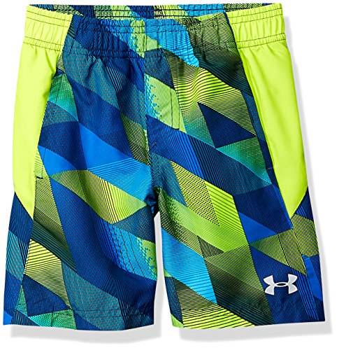 Under Armour Little Boys' Volley Swim Trunk, Neon Green/Vis, 5 ()