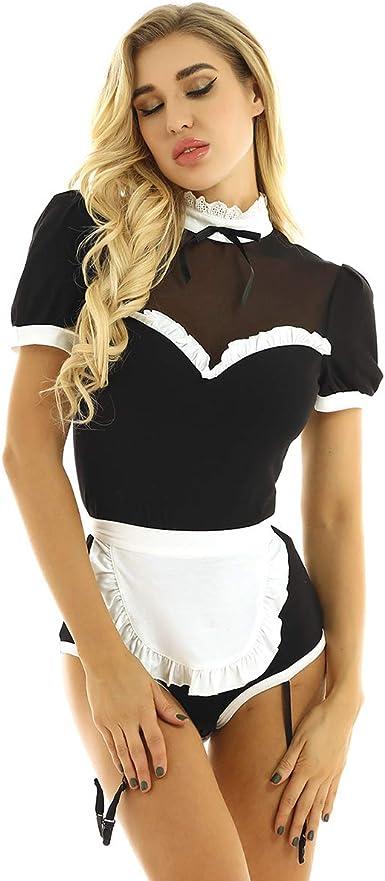 Femmes servante Costume Tablier femme de chambre Cosplay Fête Lingerie Tenues