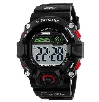 OUMOSI Relojes de pulsera para Hombres, moda impermeable, reloj parlante para ciegos: Amazon.es: Hogar