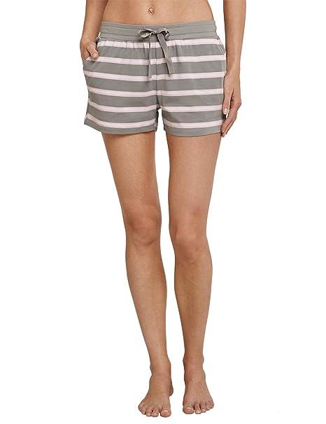 Schiesser Jerseyhose Kurz, Pantalones de Pijama para Mujer, Verde (Farn 712),