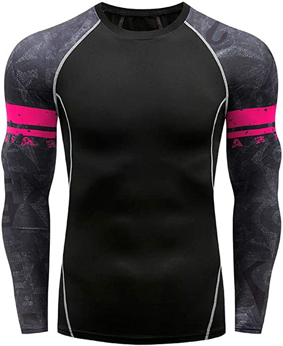 YiiJee Uomo Asciugatura Veloce Compressione Traspirante T-Shirts Base Layer Manica Corta Sportivi Tops Maglietta
