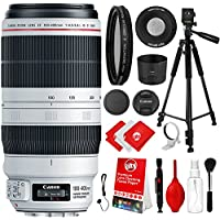 Canon EF 100-400mm f/4.5-5.6L IS II USM Lens Kit with CPL Filter, 60 Tripod, Cleaning Kit and Bundle