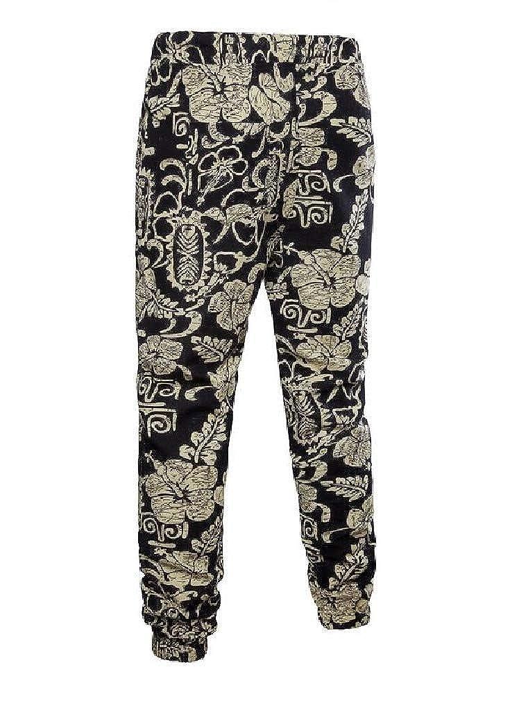 VITryst-Men Drawstring Bechwear Hawaii Individuality Palazzo Lounge Pant