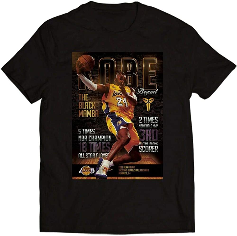Kobe Bryant The Black Mamba T-Shirt Men//Women