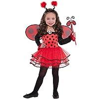 Amscan 997655 Kinderkostüm Ballerina-Käfer, rot/schwarz, 3-4 Jahre