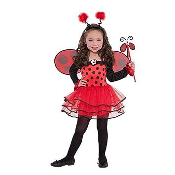 Ballerina Ladybird + Wings Girls Animal Fancy Dress Kids Lady Bug Childs  Costume