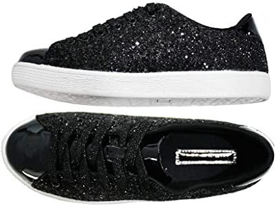 LUCKY STEP Glitter Sneakers Lace up