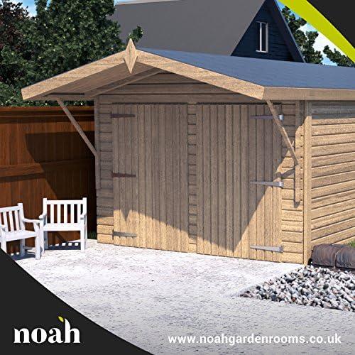 Noah Garden Rooms Oxford - Garaje, caseta, taller para el jardín de madera muy resistente, de 6 x 3 metros.: Amazon.es: Jardín