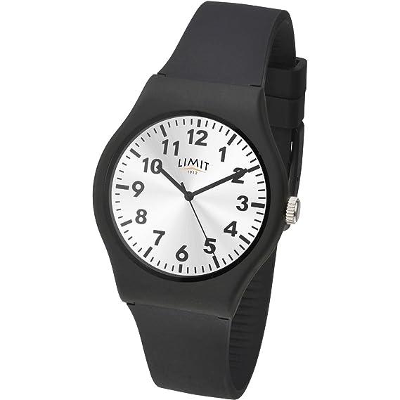 Limit 5947 - Reloj de pulsera para hombre, esfera de plata, correa de silicona