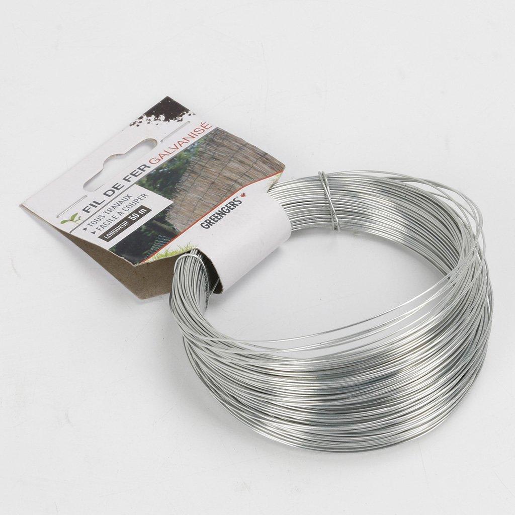 Bobina di fil di ferro galvanizzato Greengeers 95600 50 m