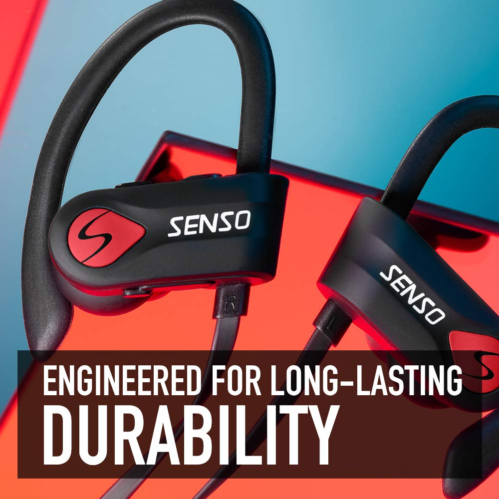 Bluetooth Headphones, Wireless Earbuds for Running, Noise Cancelling Headsets for Workout, Sports Earphones Bluetooth 5.0 with Mic, Best Beats Waterproof Cordless Sports Ear Buds for Gym Jogging by Senso (Image #6)
